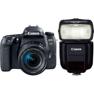 Set Canon EOS 77D   18-55 IS STM   blesk 430EX III-RT