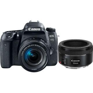 Set Canon EOS 77D   18-55 IS STM   EF 50 mm f/1.8 STM