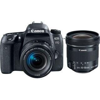 Set Canon EOS 77D   18-55 IS STM   EF-S 10-18 mm f/4.5-5.6 IS STM
