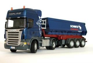 SIKU Control - RC Tahač Scania R620 se sklápěcím návěsem 1:32 - rozbaleno