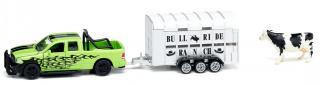 SIKU Farmer - RAM 1500 s přívěsem na přepravu krav