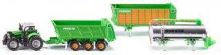 SIKU Farmer - Traktor Deutz se sadou přívěsů Joskin, 1:87 - rozbaleno