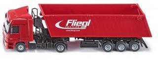 SIKU Kamion s vyklápěcím vlekem červený, 1:50 - rozbaleno