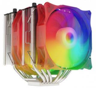 SilentiumPC chladič CPU Grandis 3 EVO ARGB / ultratichý/ 1x140mm a 1x120mm fan/ 6 heatpipes/ PWM/ pro Intel i AMD, SPC275