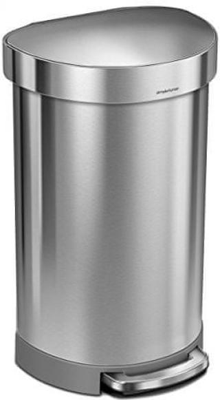 Simplehuman Pedálový odpadkový koš půlkulatý 45 l - zánovní