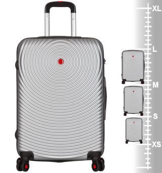 Sirocco T-1157/3 ABS Sada cestovních kufrů stříbrná - zánovní