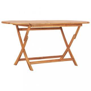 Skládací zahradní stůl teakové dřevo Dekorhome