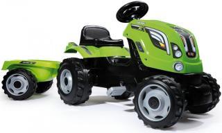 Smoby Šlapací traktor Farmer XL zelený s vozíkem - zánovní