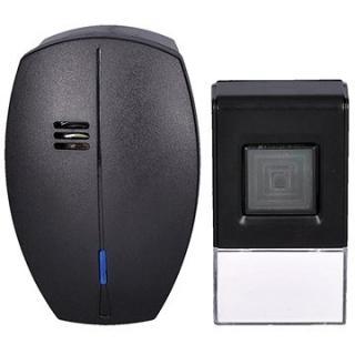 Solight bezdrátový zvonek, do zásuvky, 120m, černý, learning code