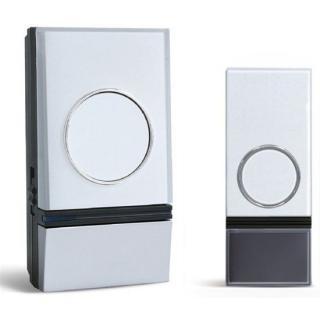 Solight bezdrátový zvonek, do zásuvky, 200m, bílý, learning code - zánovní