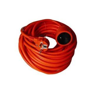 Solight Prodlužovací kabel, 1 zásuvka, oranžová, 20m