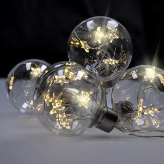 Solight Světelný řetěz s 6 koulemi pr. 8 cm, 2 m