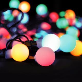 Solight Světelný venkovní řetěz 200 LED s dálkovým ovladačem, 20 m