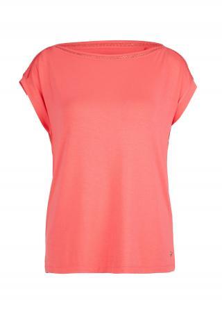 s.Oliver dámské tričko s háčkovanou krajkou 14.005.32.5365/4510 Korálová 40