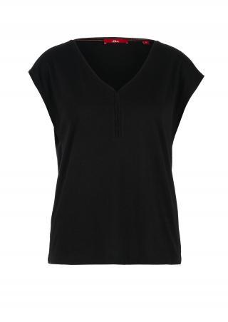 s.Oliver dámské triko s výstřihem 14.005.32.5376/9999 Černá 34