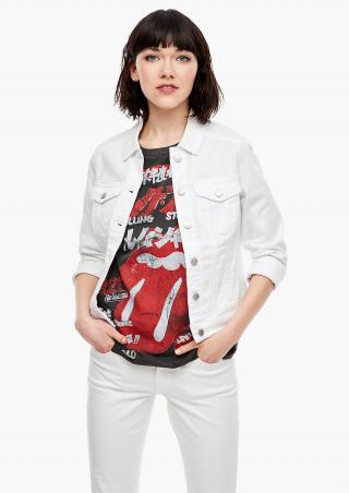 s.Oliver lehká džínová bunda 46.003.51.2206/0100 Bílá L