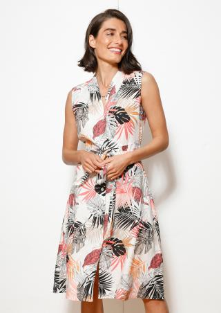 s.Oliver lněné letní šaty s květinovým potiskem 14.005.82.3829/02A3 Multi 34