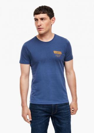 s.Oliver pánské tričko 130.10.009.12.130.2042869 M modrá