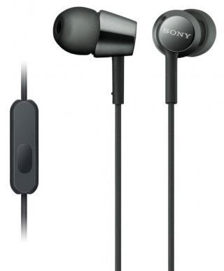 Sony MDR-EX155AP sluchátka s mikrofonem, černá - zánovní