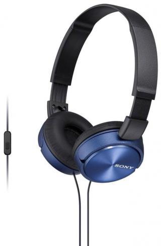 Sony MDR-ZX310APL sluchátka s mikrofonem  - zánovní