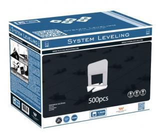 Spony System Leveling - 1,5mm 500ks