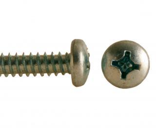 Šroub do plechu bez špičky ZnB, půlkulatá hlava, DIN 7981F - 3.9x19
