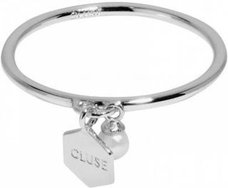 Stříbrný prsten s hexagonem a perličkou CLJ42007, 52, mm