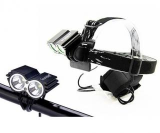 Svítilna na kolo   čelovka 2v1 nabíjecí 2x Cree LED Solight