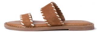 Tamaris Dámské kožené pantofle 1-1-27128-34-305 Cognac - Velikost 39