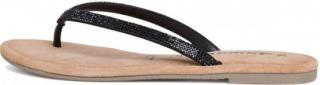 Tamaris Dámské pantofle 1-1-27124-24-047 Black Glam - Velikost 42