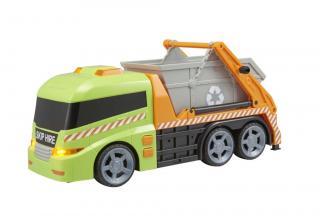 Teamsterz popelářské auto s kontejnerem se zvukem a světlem