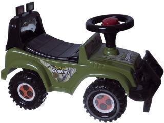 Teddies Odrážedlo auto Cross country vojenská khaki zelená - rozbaleno