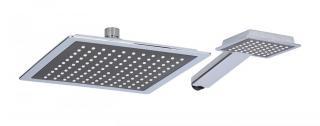 TimeLife Sprchová hlavice 2 součásti 22 x 22 cm   10 x 9 cm - zánovní