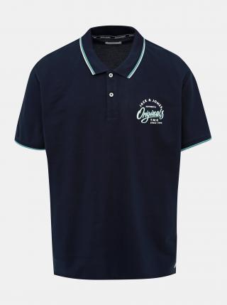 Tmavě modré polo tričko Jack & Jones Beams