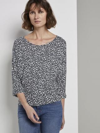 Tom Tailor dámské tričko s 3/4 rukávem 1017732/23205 Modrá M