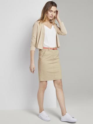 Tom Tailor sukně s barevným páskem 1017965/22201 Krémová 36