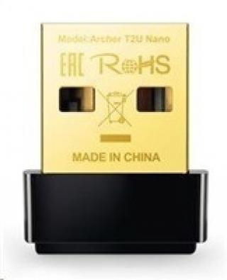 TP-Link Archer T2U Nano AC600 DualBand USB 2.0 Nano adapter Wireless 802.11a/n,, Archer T2U Nano