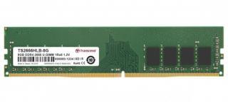 Transcend paměť 8GB DDR4 2666 U-DIMM 1Rx8 1Gx8 CL19 1.2V, TS2666HLB-8G