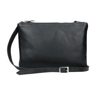 Trendy dámská kožená crossbody kabelka Facebag Beatrice - černá