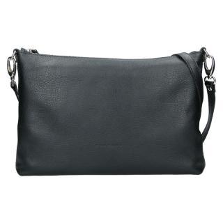 Trendy dámská kožená crossbody kabelka Facebag Elesn - černá