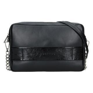 Trendy dámská kožená crossbody kabelka Facebag Ninas - černá