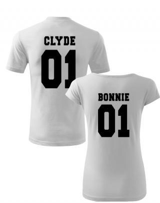 Trička pro páry  Bonnie and Clyde 2 - pozor, jen pro zlobivé kluky a holky