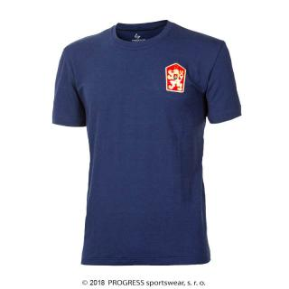 Tričko retro pánské Progress Klement ČSSR s bambusem - modré, 3XL