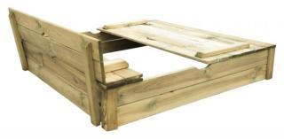 Trigano Pískoviště Dřevěné 120 Alix Se Skladacími Lavicemi