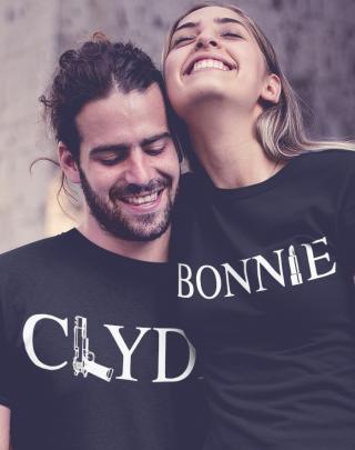 Trika pro páry  Bonnie and Clyde - pozor, jen pro zlobivé kluky a holky