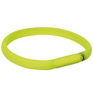 Trixie USB svítící obojek zelený - L - XL: 70 cm / 18 mm
