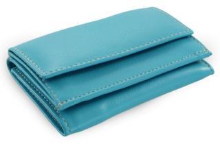 Tyrkysová kožená dámská menší peněženka Adrien
