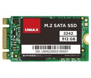 UMAX SSD 512GB/ interní/ M.2/ 2242/ SATAIII/ 3D TLC, UMM250003