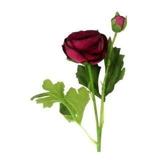 Umělá květina Ranunculus, fialová