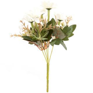 Umělá kytice Kapské kopretiny 20 x 30 cm, smetanová